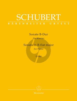 Schubert Sonate B-dur D.960 Piano solo (edited by Walburga Litschauer) (Barenreiter-Urtext)
