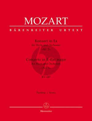Mozart Konzert No. 3 Es-dur KV 447 Horn und Orchester Partitur (Franz Giegling)