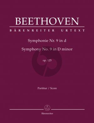 "Beethoven Symphony No.9 d-minor Op.125 (with final chorus ""An die Freude"" (Ode to Joy) Full Score (edited by Jonathan Del Mar)"