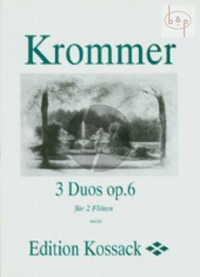 3 Duos Op.6 2 Flutes (Parts)