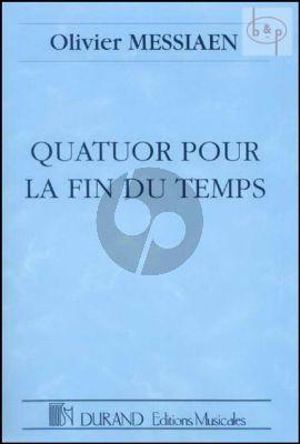 Messiaen Quatuor pour la Fin du Temps Clar.[Bb]-Violin-Violoncello-Piano Study Score