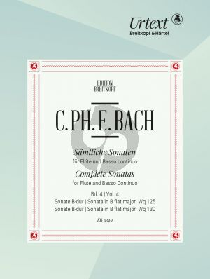 Bach Sonatas Vol. 4 no. 7 - 8 WQ 125 and WQ 130 Flute-Bc (edited by Ulrich Leisinger)