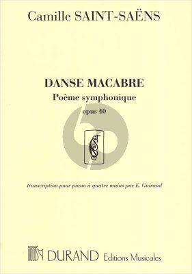 Saint-Saens Danse Macabre Op.40 (Transcr. Piano 4 Mains E. Guiraud)