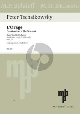 Tchaikovsky L'Orage - Das Gewitter Ouverture e-moll Op. 76 Orchester (Studienpartitur)