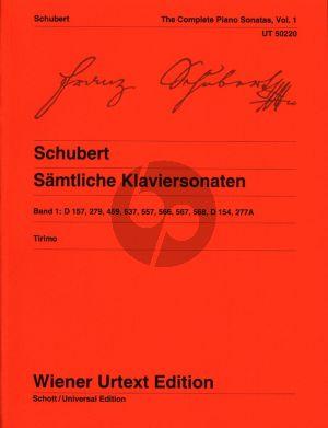 Schubert Sonaten Vol.1 Klavier (edited by Martino Tirimo) (Wiener-Urtext)