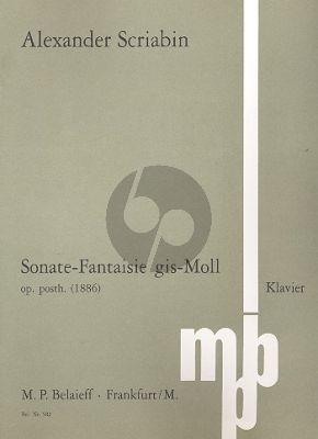 Scriabin Sonate Fantasie gis-moll Op.Posth. Klavier (1886)