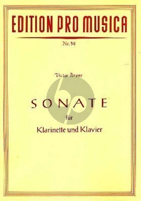 Bruns Sonate Op.22 Klarinette-Klavier
