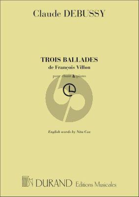 3 Ballades de Francois Villon (French/English)