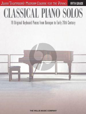 Thompson Classical Piano Solos Grade 5 (advanced level)