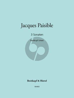 Paisible 3 Sonatas (Treble Rec.-Bc) (Martin Nitz)