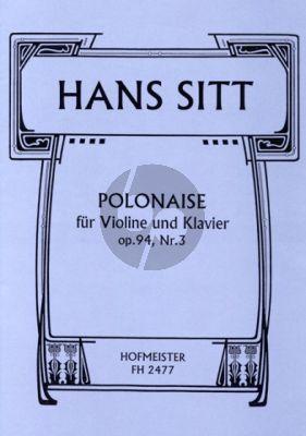 Sitt Polonaise Op.94 No.3 Violine-Klavier (Hertel)