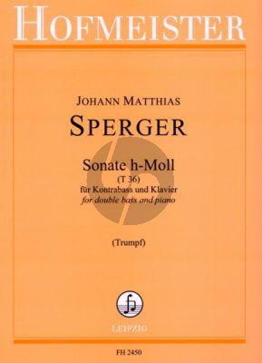 Sperger Sonate h-moll T.36 Kontrabass und Klavier (Klaus Trumpf)
