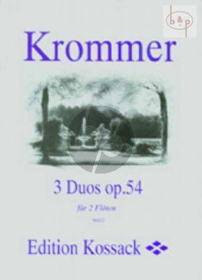 3 Duos Op.54 2 Flutes (Parts)