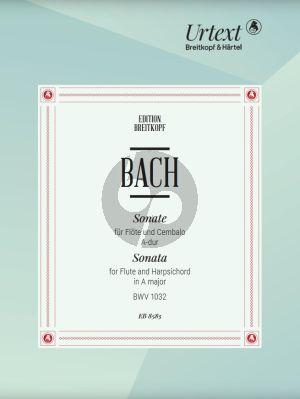 Bach Sonate A-dur BWV 1032 Flote und Cembalo[Klavier] (edited by B. Kuijken)