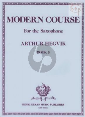 Modern Course Vol.5 Saxophone