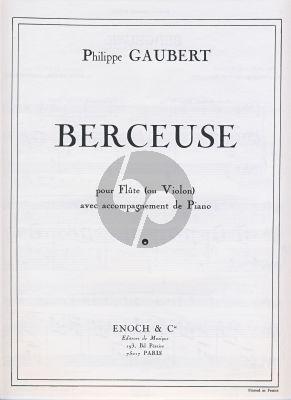 Gaubert Berceuse Flute or Violin and Piano