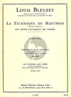 Bleuzet Technique du Hautbois Vol. 3