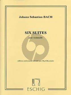 Bach 6 Suites BWV 1007 - 1012 pour Violoncelle (Paul Bazelaire)