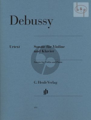 Debussy Sonate g-minor Violin-Piano (edited by Ernst-Günter Heinemann) (Henle-Urtext)