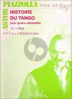 Piazzolla Histoire du Tango (3 Clar.[Bb]-Bass Clar.) (Score/Parts) (arr. Bruce Edwards)