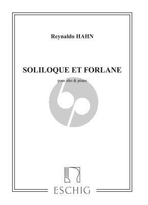Hahn Soliloque et Forlane Alto (Viola) et Piano