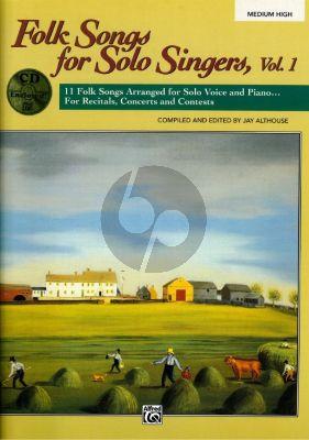Folk Songs Solo Singers Vol.1 (Med.High) (Bk-Cd)