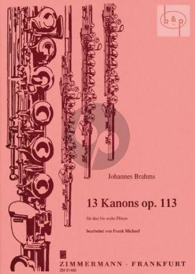 13 Kanons Op. 113 3 - 6 Flöten