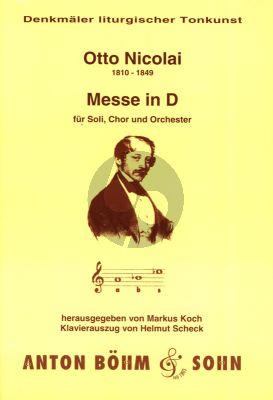 Nicolai Messe D-dur Soli-Chor-Orchester (Klavierauszug) (Markus Koch)