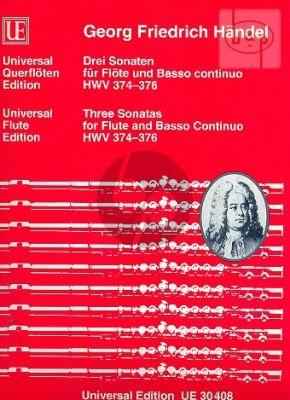 3 Hallenser Sonaten HWV 374 - 376 Flöte und Bc