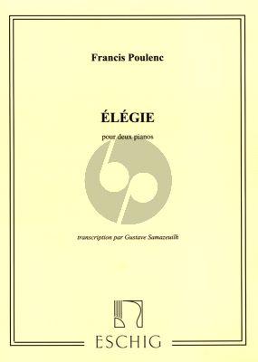 Poulenc Elegie for 2 Pianos (transcription par Gustave Samazeuilh)