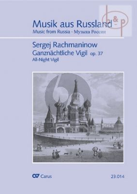 Rachmaninoff All-Night Vigil Op.37 (SATB and Piano (for rehearsal only) (Score) (edited by Helmut Loos)