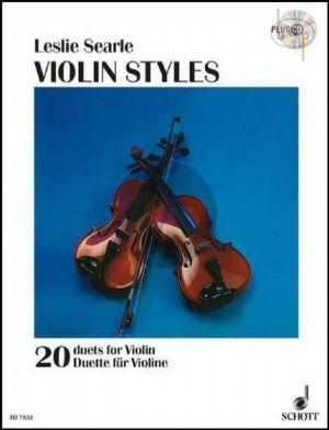 Violin Styles (20 Duets)
