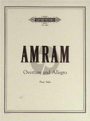 Amram Ouverture & Allegro Flute solo
