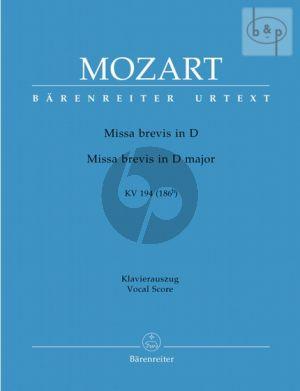 Missa Brevis D-dur KV 194(186h) (Soli-Choir- Orch.) (Vocal Score)