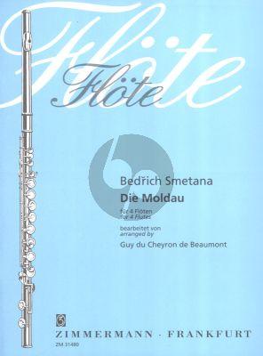 Smetana Die Moldau 4 Flöten (Part./Stimmen) (arr. Guy du Cheyron)