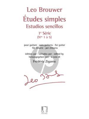 Brouwer Etudes Simples / Estudios Sencillos Vol.1 (Nos.1 - 5) pour Guitare