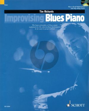 Improvising Blues Piano Book wit Online Audio