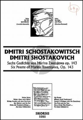 6 Gedichte nach Marina Zwetajewa Op.143