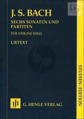 6 Sonaten-Partiten BWV 1001 - 1006 (Violin Solo) (Study Score)