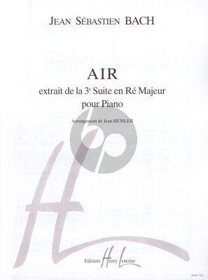 Bach Air de Suite No.3 Re majeur BWV 1068 Piano Seul (arrangement de Jean Sichler)