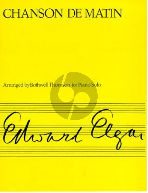 Elgar Chanson de Matin Op.15 No.2 Piano Solo (arranged by Bothwell Thomson)