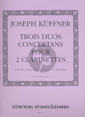 Kuffner 3 Duos Concertans 2 Klarinetten (F.G.Holy)