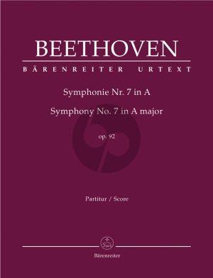 Beethoven Symphony No.7 A-major Op.92 Full Score (edited by Del Mar)