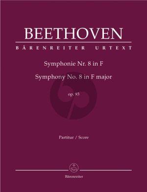 Beethoven Symphony No.8 F-major Op.93 Full Score (edited by Jonathan Del Mar)