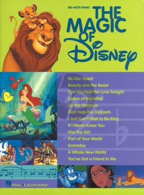 Disney The Magic of Disney (BIG-NOTE Piano)