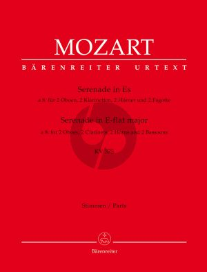 Mozart Serenade KV 375 Es-dur (2 Oboes- 2 Klar.[Bb]- 2 Horner[Eb]- 2 Fagotte) (Stimmen) (Barenreiter)