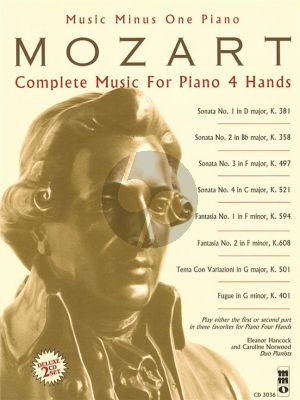 Mozart Complete Music for Piano 4 Hands (Bk- 2 Cd Deluxe Set) (MMO)