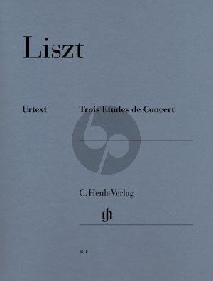 Liszt 3 Etudes de Concert Piano solo