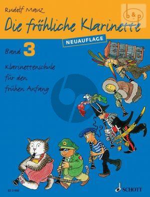 Mauz Die Frohliche Klarinette Vol.3 Book Only (Neuauflage) (Klarinetten Schule fur den fruhen Anfang)