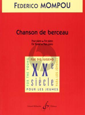 Mompou Chanson de Berceau Piano seule (Cancion de Cuna)